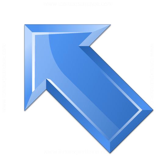 Arrow Up Left Blue Icon