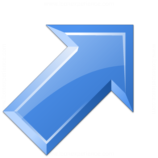 Arrow Up Right Blue Icon