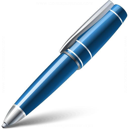 Ballpen Blue Icon