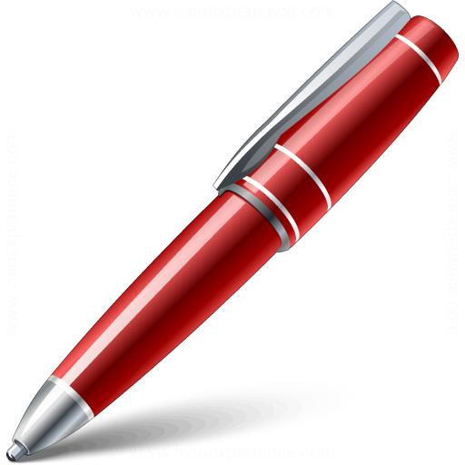 Ballpen Red Icon