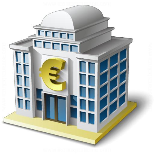 Bank House 2 Euro Icon