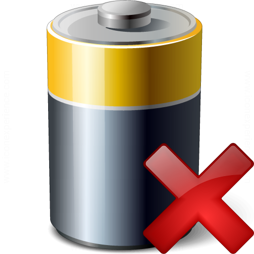 Battery Delete Icon