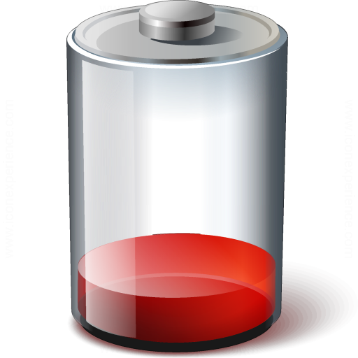Battery Red 10 Icon