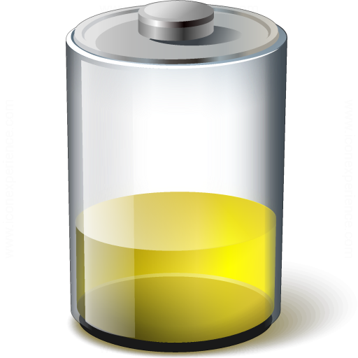 Battery Yellow 33 Icon