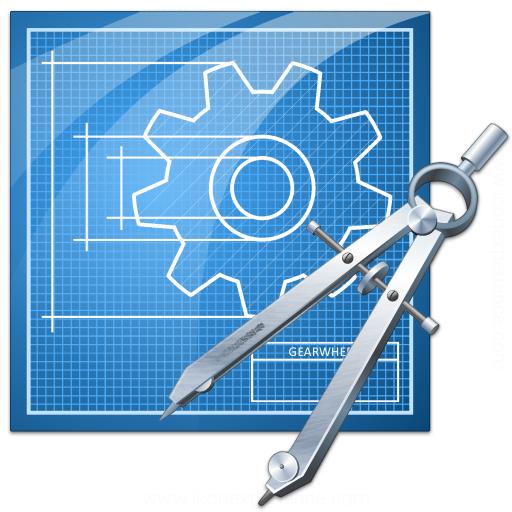 Blueprint Compasses Icon