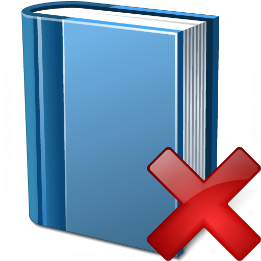 Book Blue Delete Icon