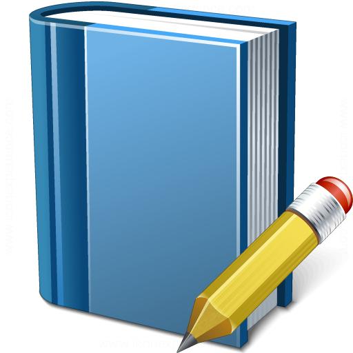 Book Blue Edit Icon