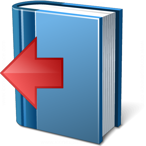 Book Blue Previous Icon