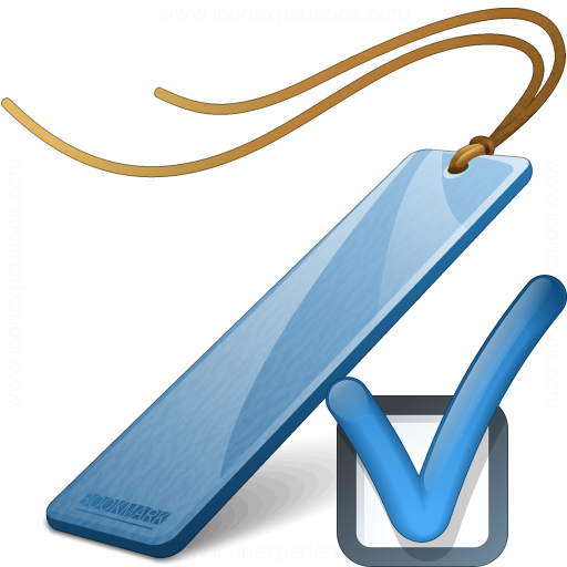 Bookmark Blue Preferences Icon