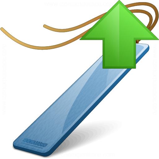 Bookmark Blue Up Icon