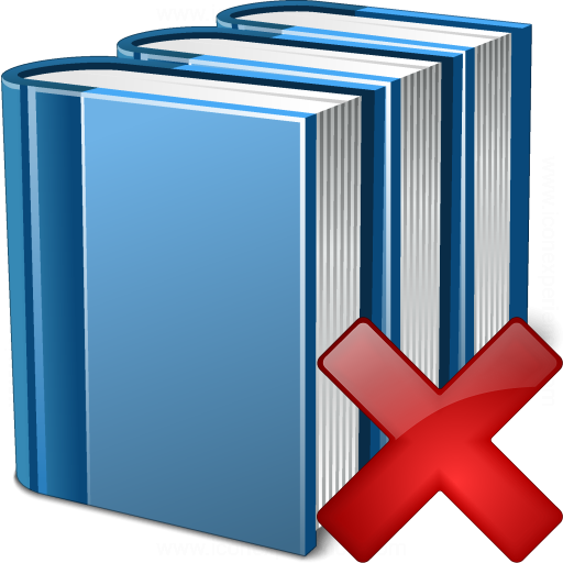 Books Blue Delete Icon