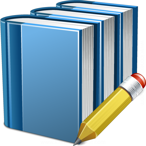 Books Blue Edit Icon