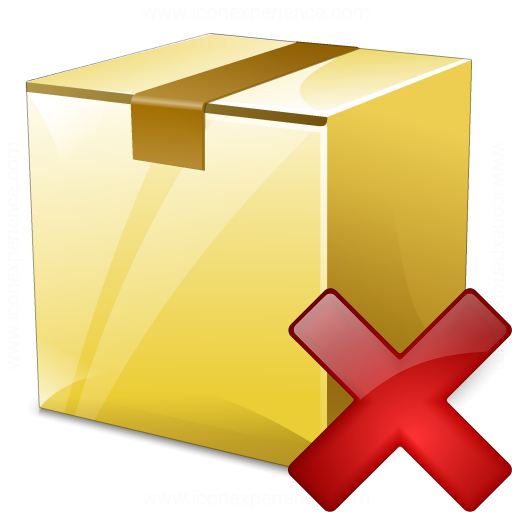 Box Closed Delete Icon