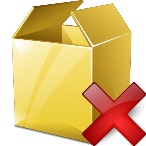Box Delete Icon