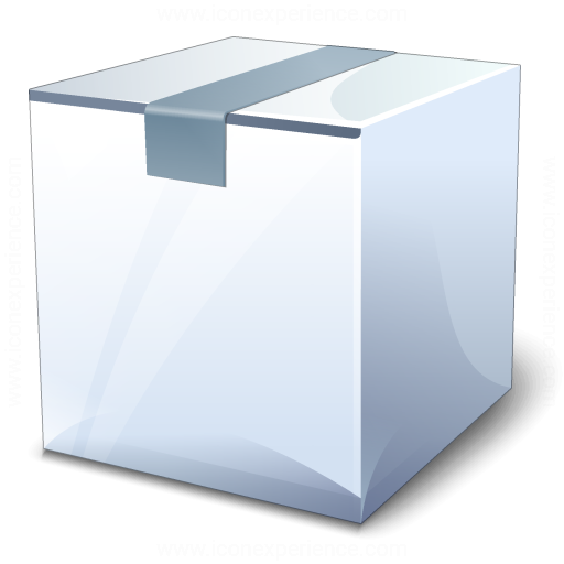 Box White Closed Icon