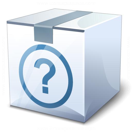 Box White Surprise Icon