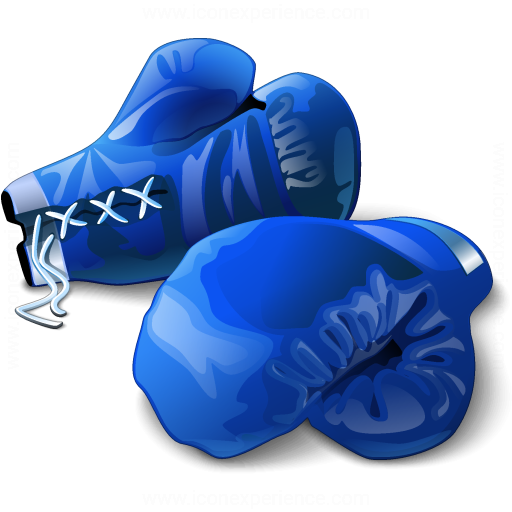 Boxing Gloves Blue Icon