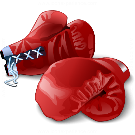 Boxing Gloves Red Icon