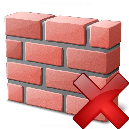 Brickwall Delete Icon