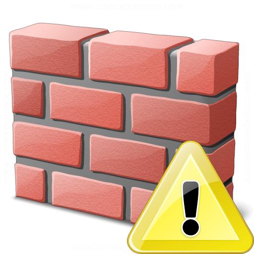 Brickwall Warning Icon