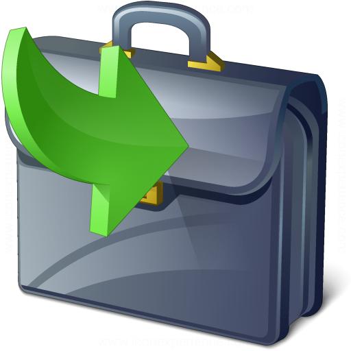 Briefcase Into Icon