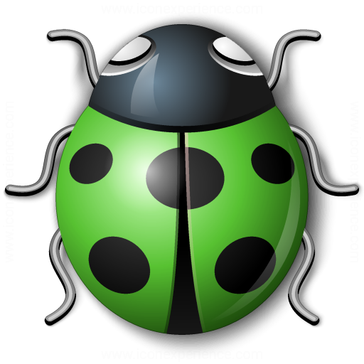 Bug Green Icon
