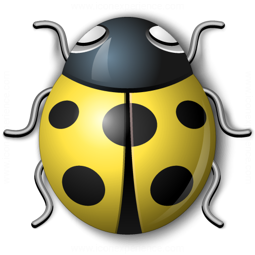 Bug Yellow Icon