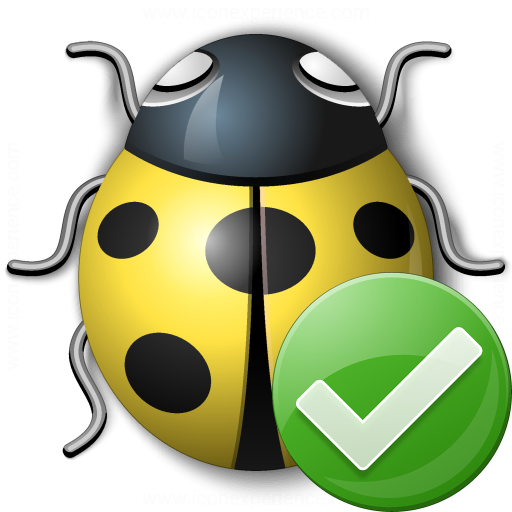 Bug Yellow Ok Icon