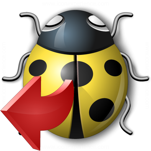 Bug Yellow Out Icon