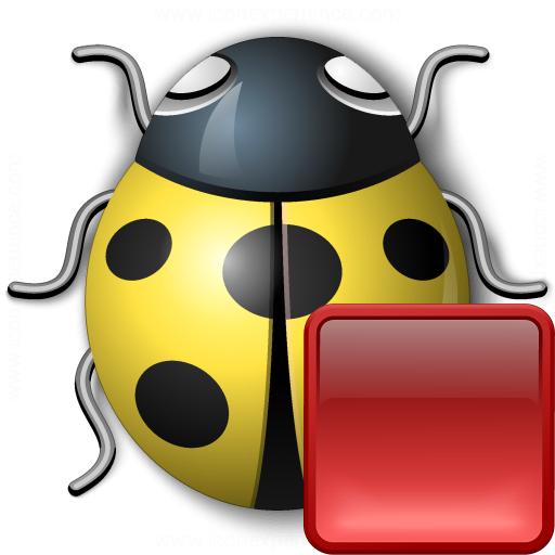 Bug Yellow Stop Icon