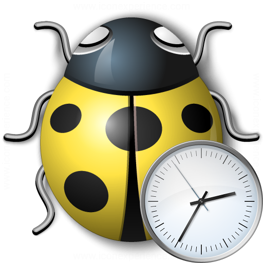 Bug Yellow Time Icon
