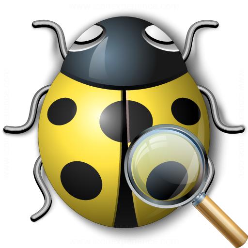 Bug Yellow View Icon