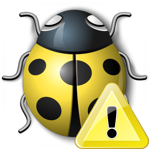 Bug Yellow Warning Icon
