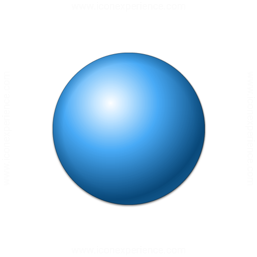 Bullet Ball Blue Icon