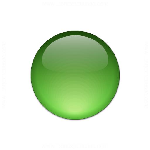 Bullet Ball Glass Green Icon