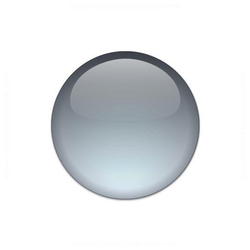 Bullet Ball Glass Grey Icon