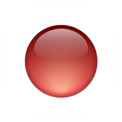 Bullet Ball Glass Red Icon