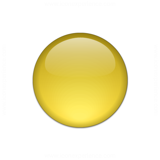 Bullet Ball Glass Yellow Icon