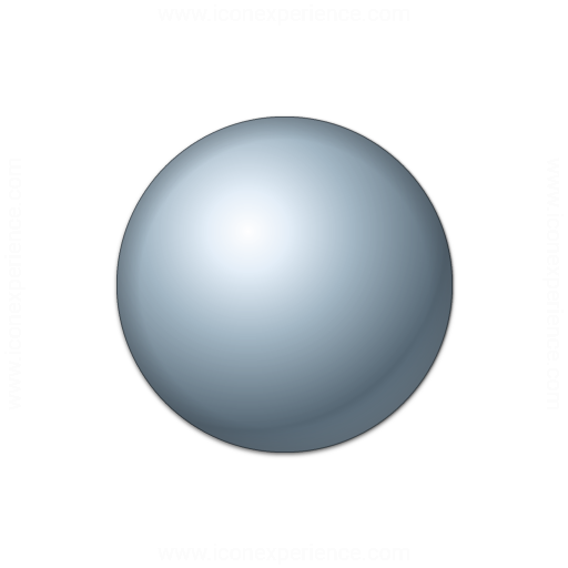 Bullet Ball Grey Icon