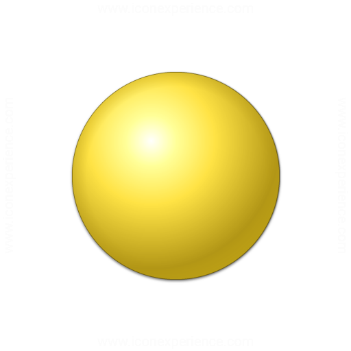 Bullet Ball Yellow Icon