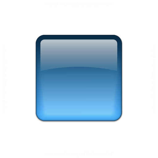 Bullet Square Glass Blue Icon