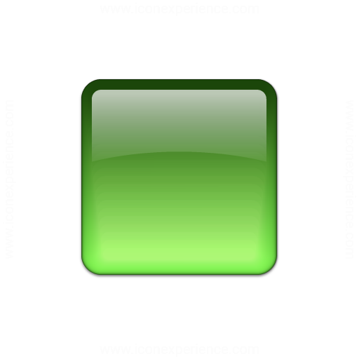 Bullet Square Glass Green Icon