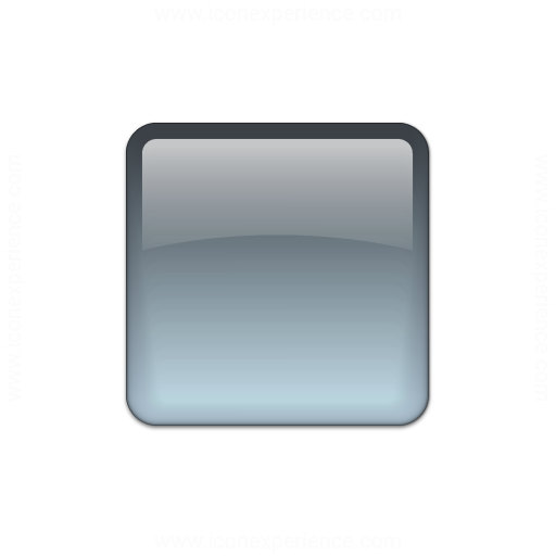 Bullet Square Glass Grey Icon