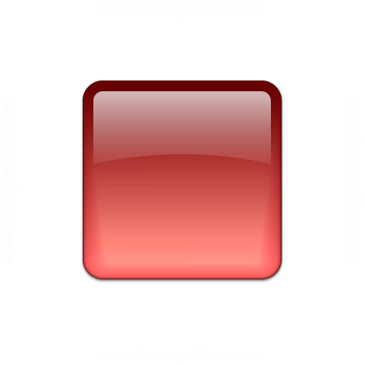 Bullet Square Glass Red Icon