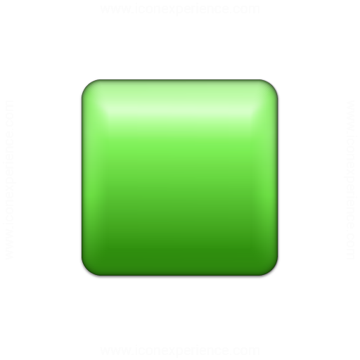Bullet Square Green Icon