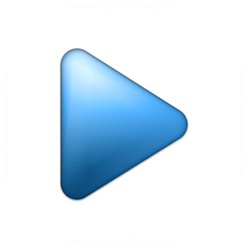Bullet Triangle Blue Icon