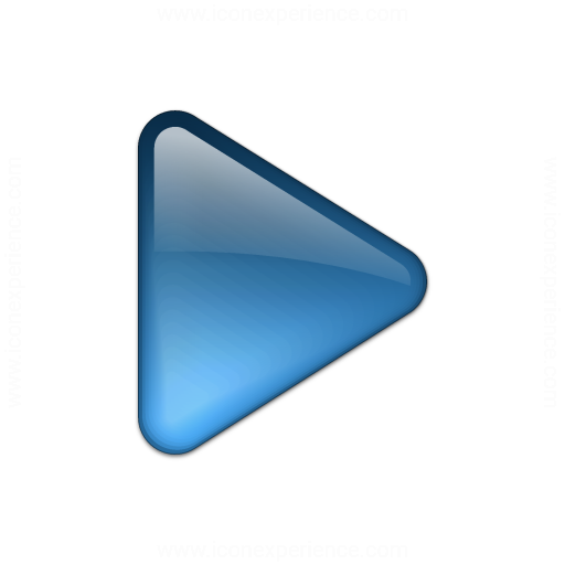 Bullet Triangle Glass Blue Icon