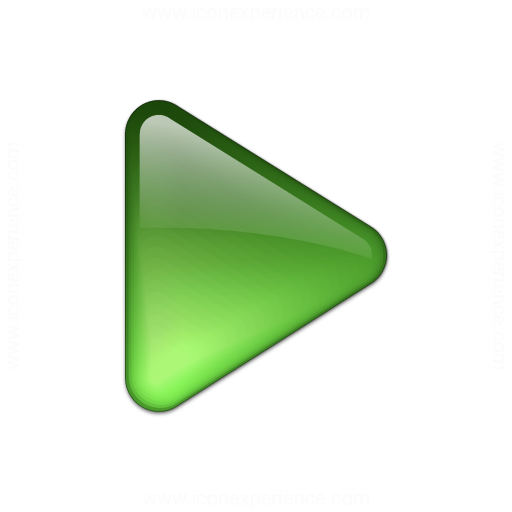 Bullet Triangle Glass Green Icon