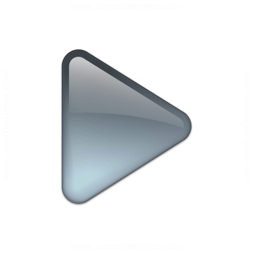 Bullet Triangle Glass Grey Icon