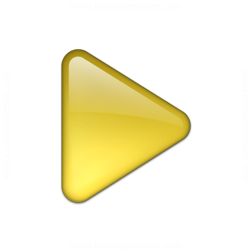 Bullet Triangle Glass Yellow Icon